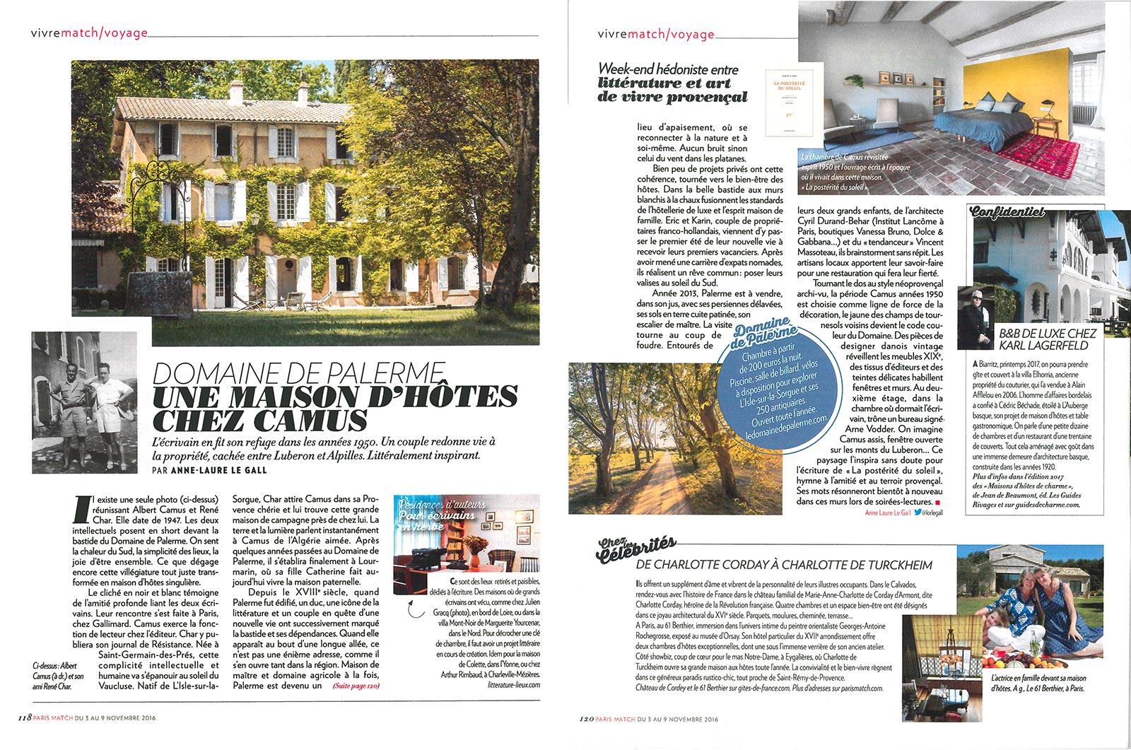 Maison Du Nord Magazine press – le domaine de palerme – isle sur la sorgue